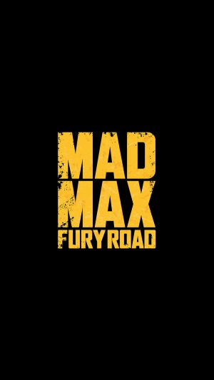 Madmax Furyroad Film Poster Minimal Logo Art Dark iPhone 7 wallpaper
