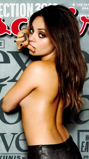 Mila Kunis Esquire Film Girl Face iPhone 7 wallpaper
