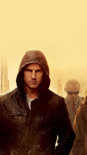Mission Impossible Tom Cruise Film Art Yellow iPhone 7 wallpaper