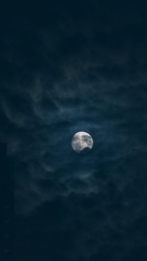 Moon Sky Dark Night Nature iPhone 7 wallpaper