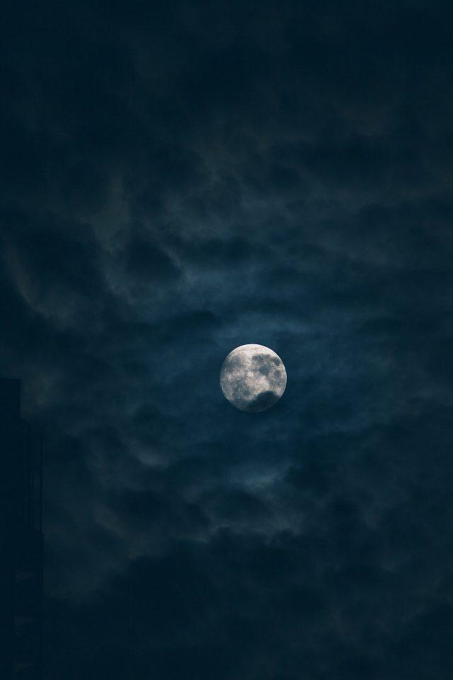 Moon Sky Dark Night Nature Iphone 7 Wallpaper Iphone7wallpapers Co