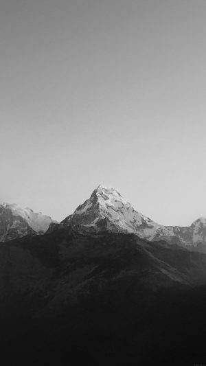 Mountain Bw Dark High Sky Nature Rocky iPhone 7 wallpaper