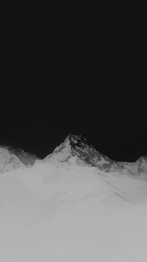 Mountain Bw White High Sky Nature Rocky iPhone 7 wallpaper