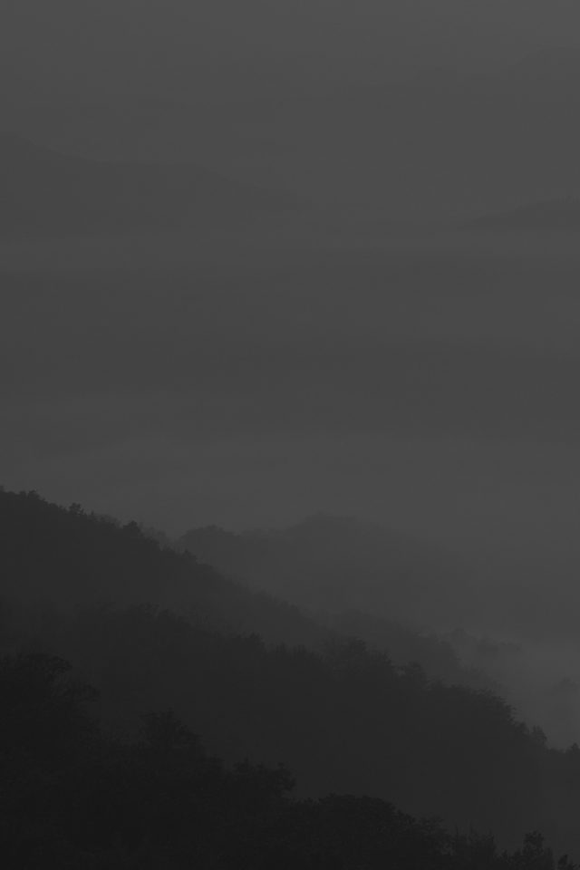 Mountain Fog Dark Nature iPhone wallpaper