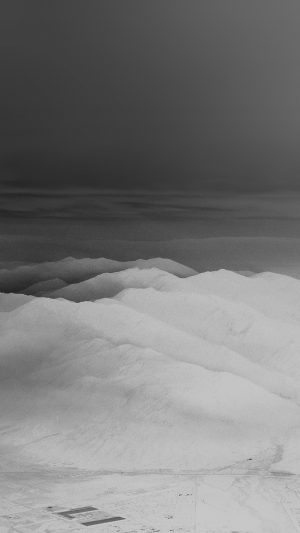 Mountain Fog Nature White Bw Gray Sky View iPhone 7 wallpaper