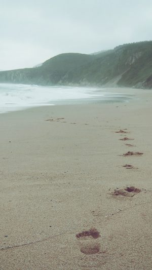 Naked Walk Sea Beach Nature Pure iPhone 7 wallpaper