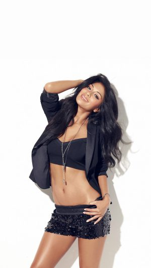 Nicole Scherzinger Music Singer Black iPhone 7 wallpaper