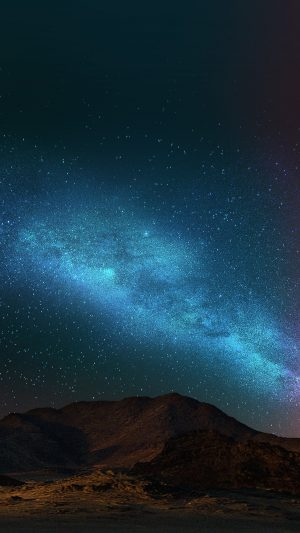 Night Sky Dark Color Star Shining Nature iPhone 7 wallpaper