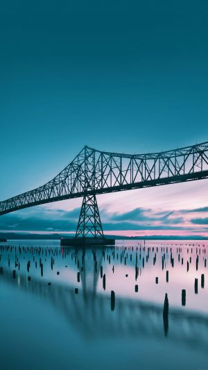 Oregon Bridge Sea Nature iPhone 7 wallpaper