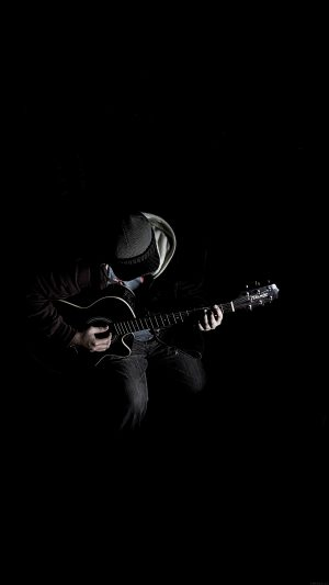 Out The Dark Guitar Player Music iPhone 7 wallpaper