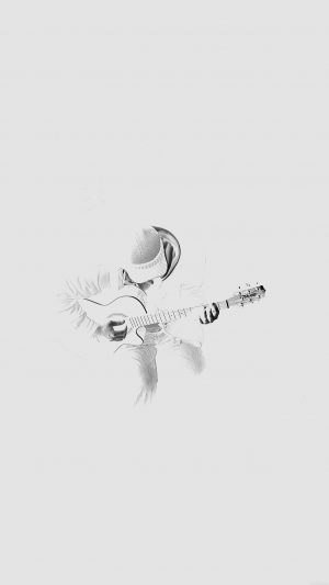 Out The Dark Guitar Player Music White iPhone 7 wallpaper