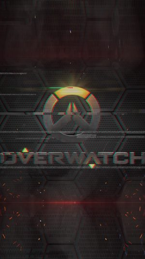 Overwatch Logo Game Art Illustration iPhone 7 wallpaper