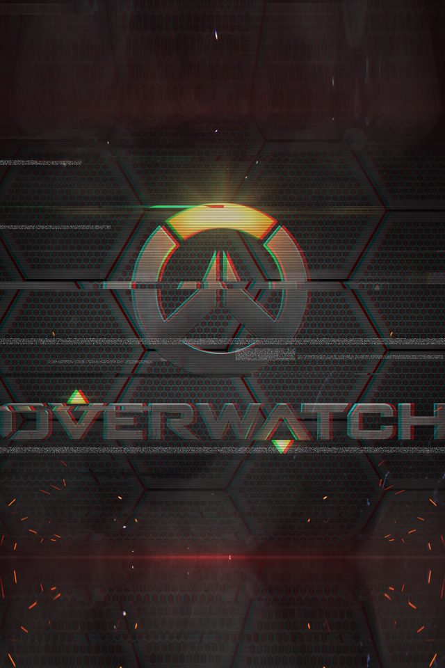 Overwatch Logo Game Art Illustration iPhone wallpaper