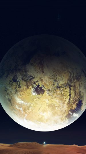 Planet Space Story Dark Earth Star iPhone 7 wallpaper