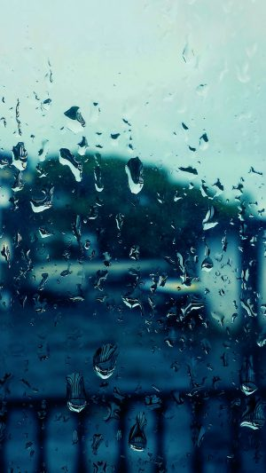 Rain Bokeh Window Drops Nature iPhone 7 wallpaper