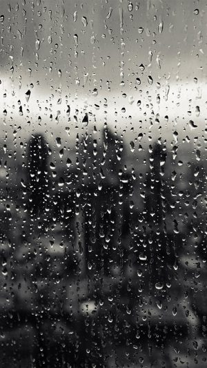 Rain Window Nature Pattern iPhone 7 wallpaper