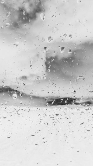 Rainy Window Nature Water Drop Road White iPhone 7 wallpaper