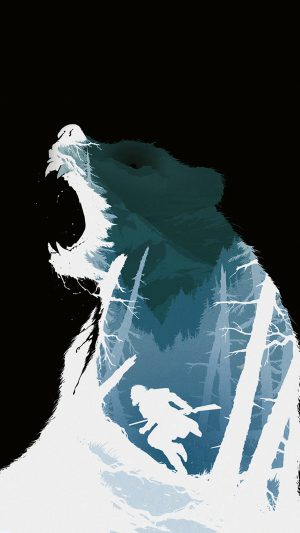 Revenant Dicaprio Poster Film Art Bear Dark iPhone 7 wallpaper