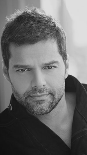 Ricky Martin Music Artist Singer Celebrity Dark Bw iPhone 7 wallpaper