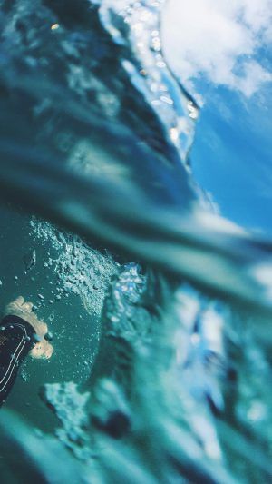 Sea Blue Nature Swim Underwater Summer iPhone 7 wallpaper
