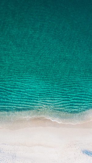 Sea Ocean Green Minimal Nature Wave Earth iPhone 7 wallpaper