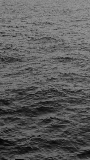 Sea Ocean Wave Dark Nature Black iPhone 7 wallpaper