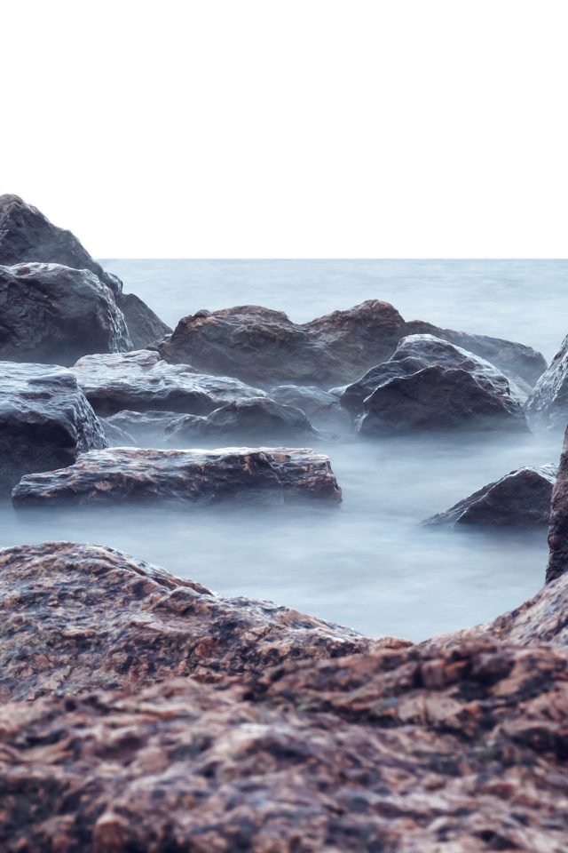 Sea Rock Nature Wave iPhone wallpaper