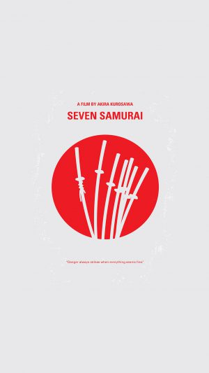 Seven Samurai Film Minimal Art Illustration iPhone 7 wallpaper