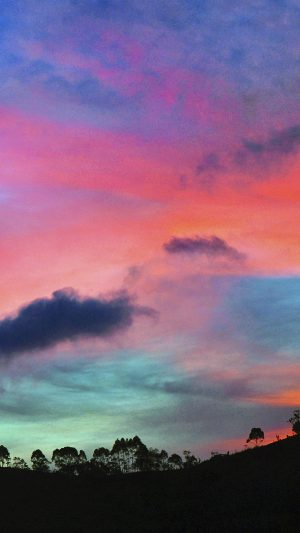 Sky Rainbow Cloud Sunset Nature iPhone 7 wallpaper