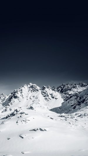 Snow Mountain Lovers Nature iPhone 7 wallpaper