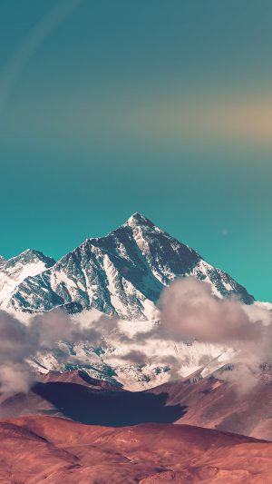 Snow Solo Mountain High Nature Green iPhone 7 wallpaper