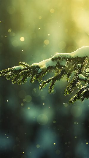 Snowing Tree Winter Nature Mountain iPhone 7 wallpaper