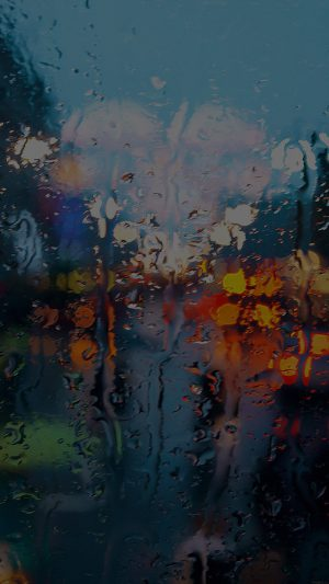 Somedays Rain Window Wet Nature Dark iPhone 7 wallpaper