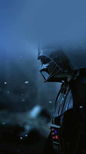 Starwars Darth Vader Art Film Blue iPhone 7 wallpaper