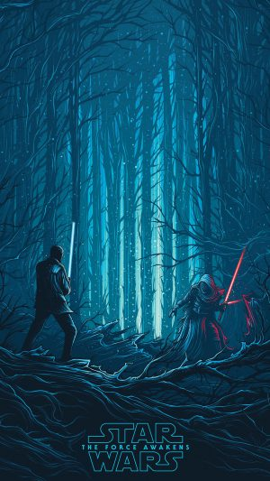 Starwars Illustration Blue Art Film iPhone 7 wallpaper