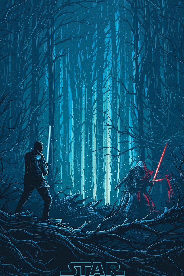 Starwars Illustration Blue Art Film iPhone wallpaper