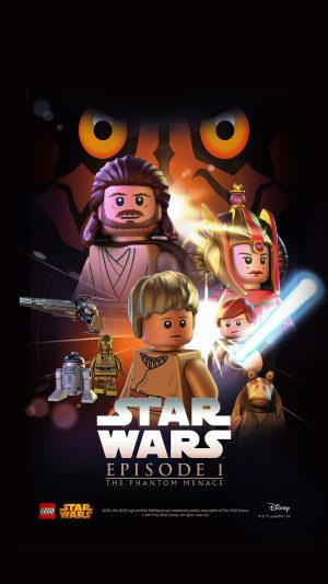 Starwars Lego Episode 1 Phantom Manace Film Art iPhone 7 wallpaper