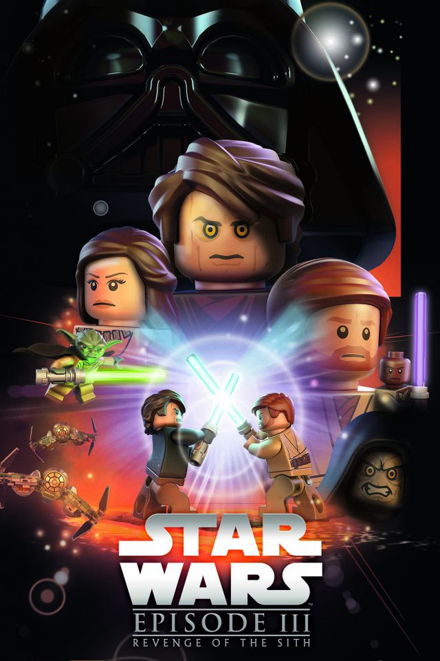 Starwars Lego Episode 3 Revenge Of The Sith Art Film iPhone wallpaper