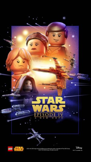 Starwars Lego Episode 4 New Hope Art Film iPhone 7 wallpaper