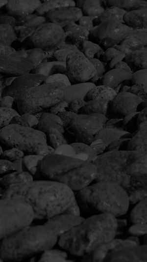 Stone Rocks Beach Nature Pattern Dark iPhone 7 wallpaper