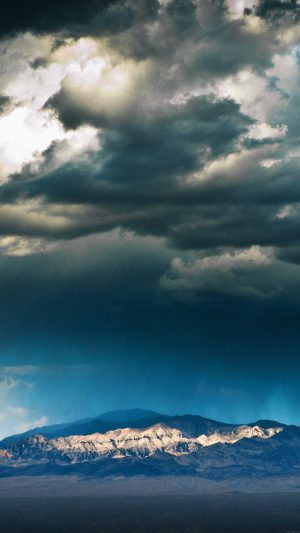 Storm Mountain Sky Nature iPhone 7 wallpaper