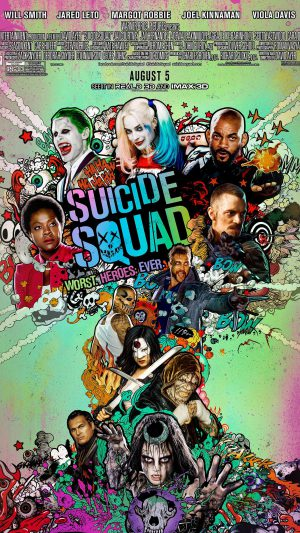 Suicide Squad Film Poster Art Illustration iPhone 7 wallpaper