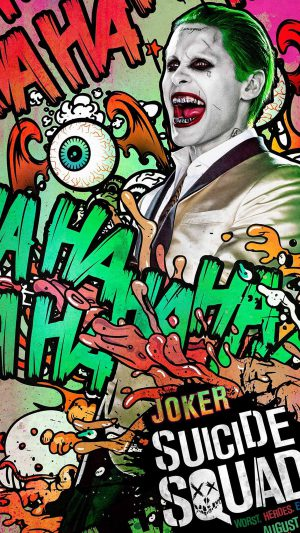 Suicide Squad Film Poster Art Illustration Joker iPhone 7 wallpaper