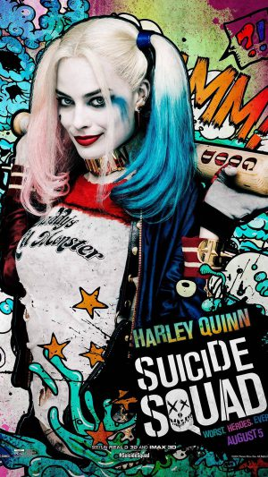 Suicide Squad Film Poster Art Illustration Joker Haley Quinn iPhone 7 wallpaper