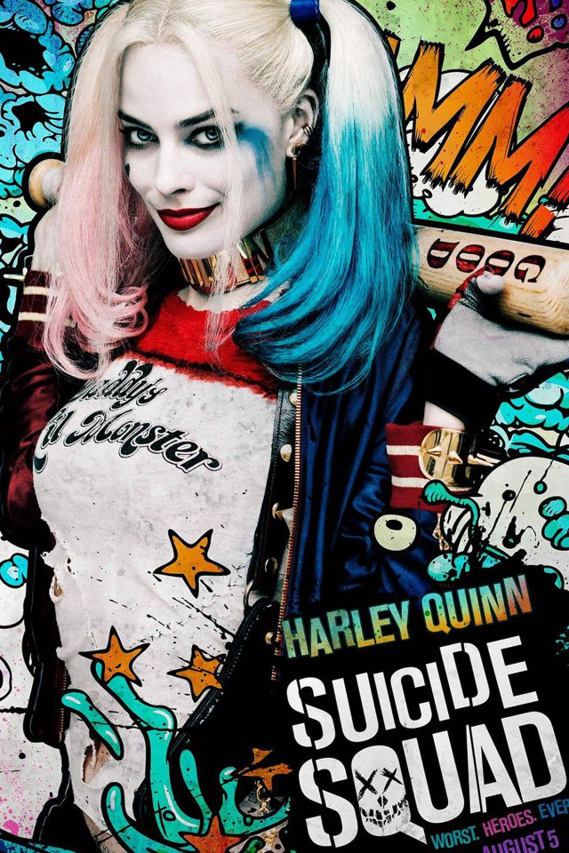 Suicide Squad Film Poster Art Illustration Joker Haley Quinn