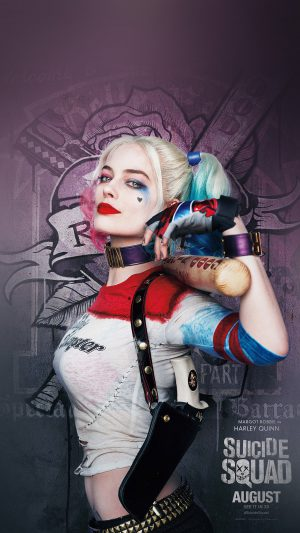 Suicide Squad Poster Film Art Hall Harley Quinn iPhone 7 wallpaper