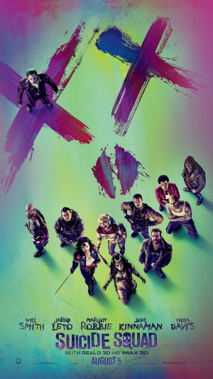Suicide Squad Poster Film Colorful Art Illustration iPhone 7 wallpaper