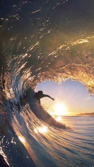 Surf Wave Sea Nature Sunshine Flare iPhone 7 wallpaper