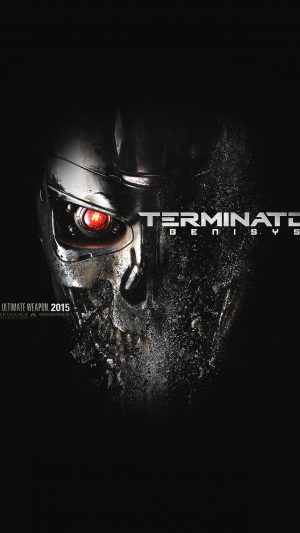 Terminator Genesis Poster Film Art Illust Dark iPhone 7 wallpaper