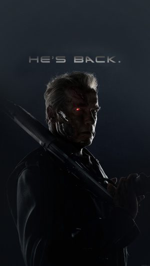 Terminator He Is Back Film Arnold Hero iPhone 7 wallpaper